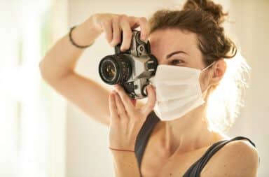 quarantine mask photo camera