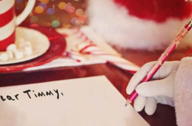 Santa writes to Timmy