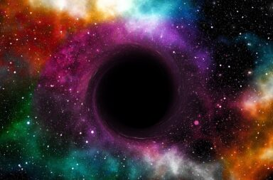 the void a black hole in space