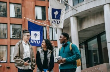 NYU college campus students