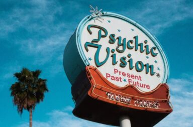 Psychic Vision neon sign