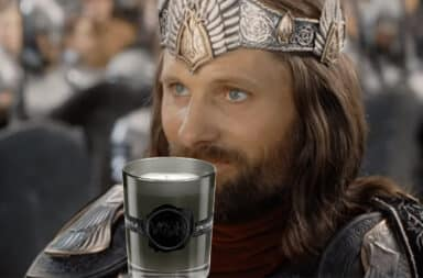 Aragorn smelling a black candle fragrance