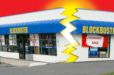blockbuster video got busted open