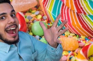 candy guy celebrate