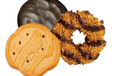 it's the girl scout cookies