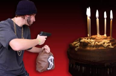 cake and robbery