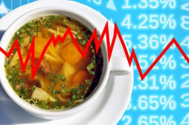 stock market and soup