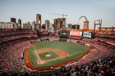 Baseball stadium view