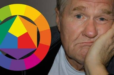 color theory man bored