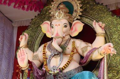 Hindu elephant deity statue
