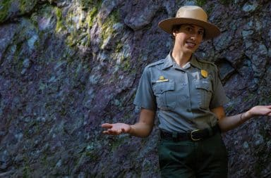 park ranger in nature