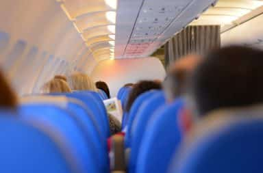 onboard the plane