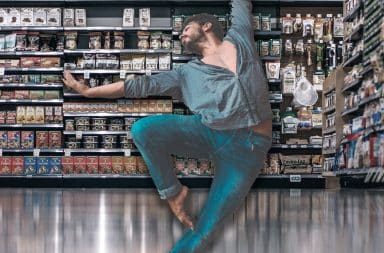 dancing in the store