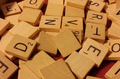 scrabble tiles that beloved word game
