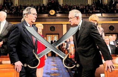 Senators with swords