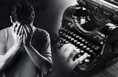 writing sad