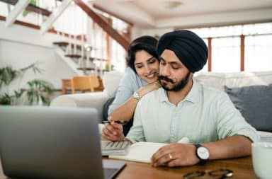 Work from home couple