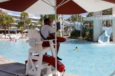 Life guarding the pool