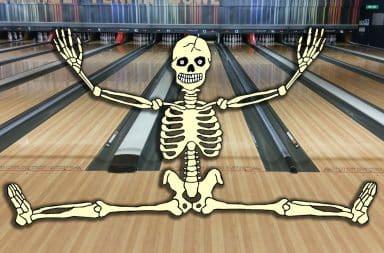 skeleton bowling