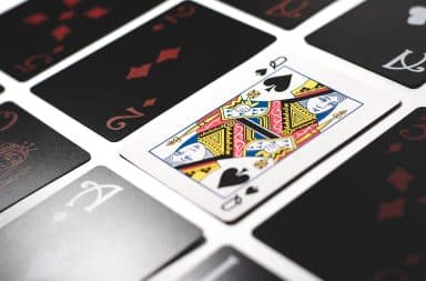 Queen of spades in a set of cards