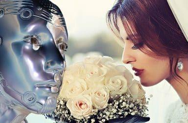 robot bride wedding