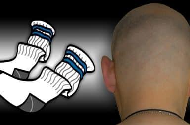 skinhead bald socks