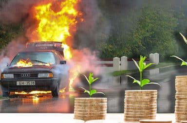 saving money but the car is on fire