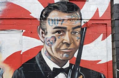 James Bond mural