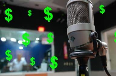microphone radio money
