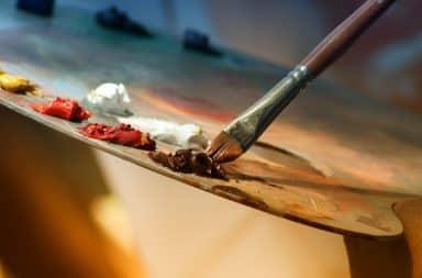 Painting brush dab