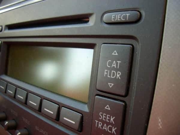 A car radio.