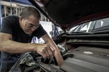 getting under the hood of the old car