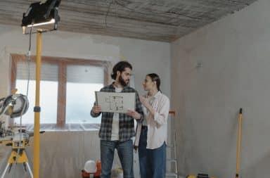 Home renovations couple