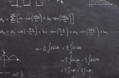 math on the board