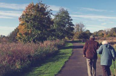 elderly walk