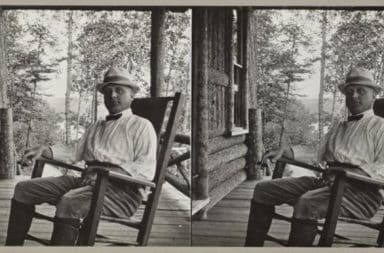 old man in a rocking chair
