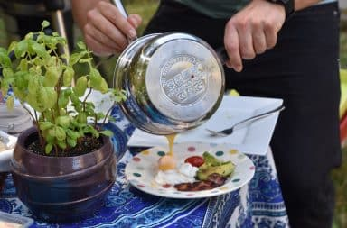 Outdoor kitchen pot
