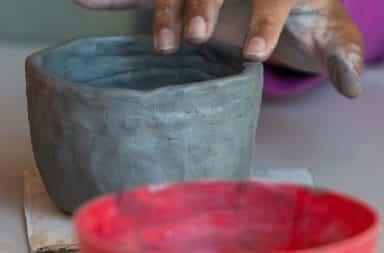 little clay pot