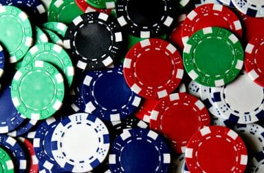 Multi-color poker chips