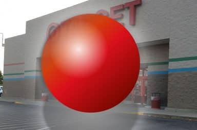 red orb outside the target