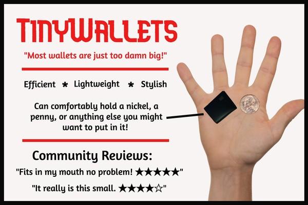 TinyWallets advertisement