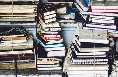 notebook pile