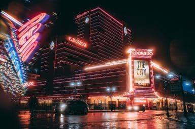 Shiny casino facade