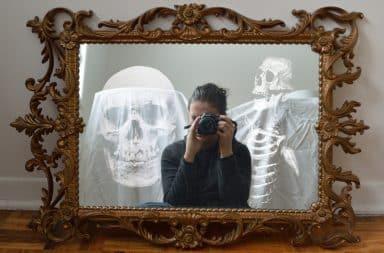 skulls in the mirror... not good